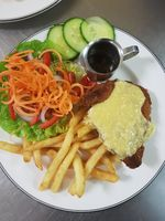 Chicken Kiev - Moos Restaurant Grafton NSW